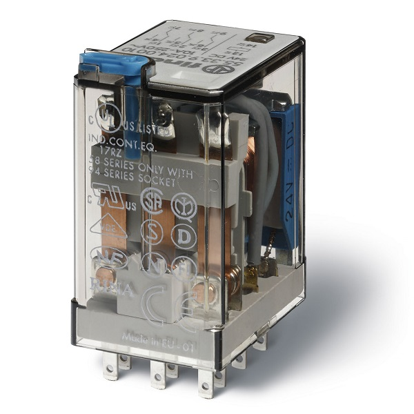 Finder Relays Wille Electric Supply Relay3pdt Relay Schematiclatched Relay4pdt Schematicrelays 55338120 0010 Ind Plug In