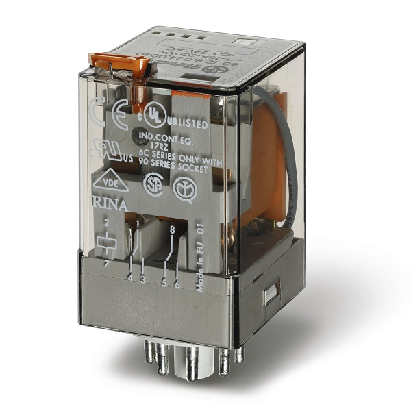 Finder 601282400040 Wille Electric Supply Dpdt Relay Description General Purpose 10a 240v Ac Coil Agni Contact